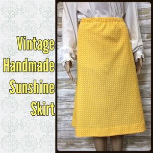 Vintage Handmade Sunshine Checker Skirt